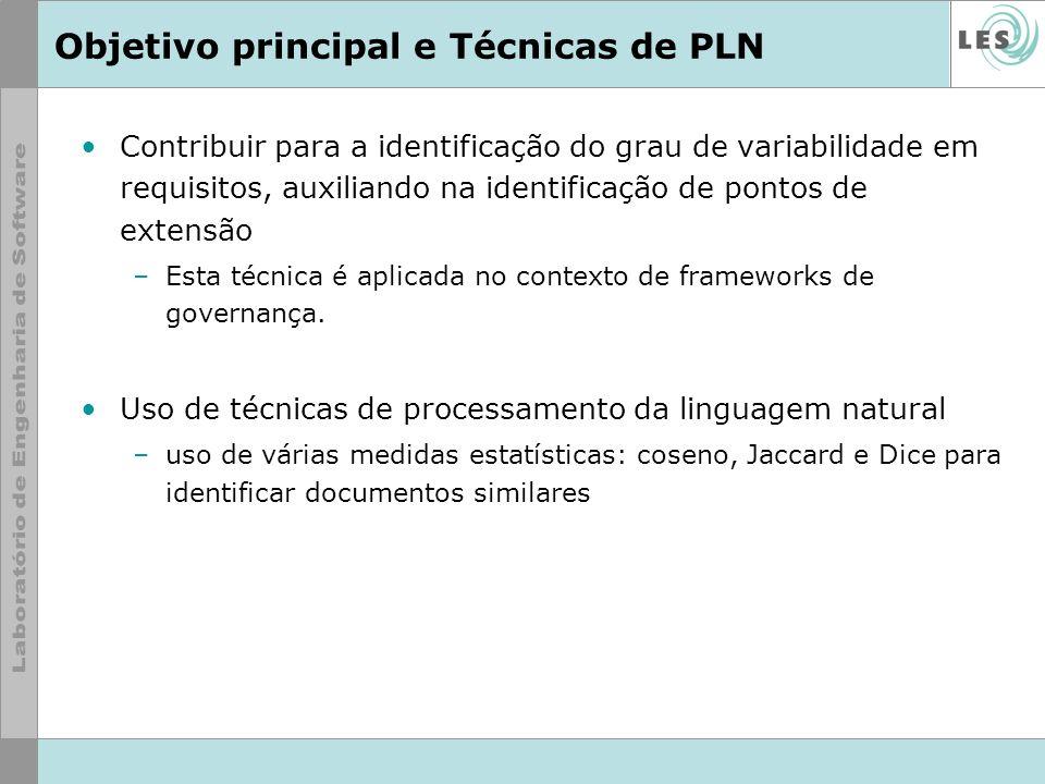 Objetivo principal e Técnicas de PLN