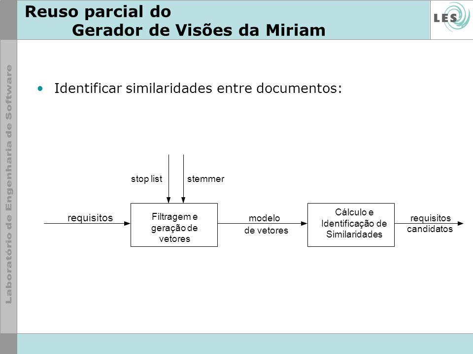 Reuso parcial do Gerador de Visões da Miriam