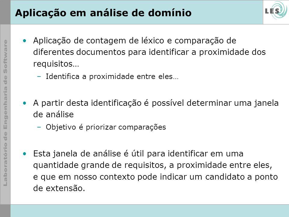 Aplicação em análise de domínio