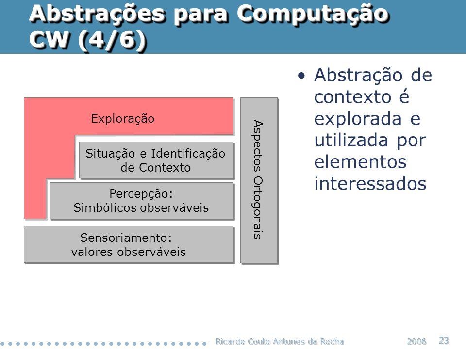 Abstrações para Computação CW (4/6)