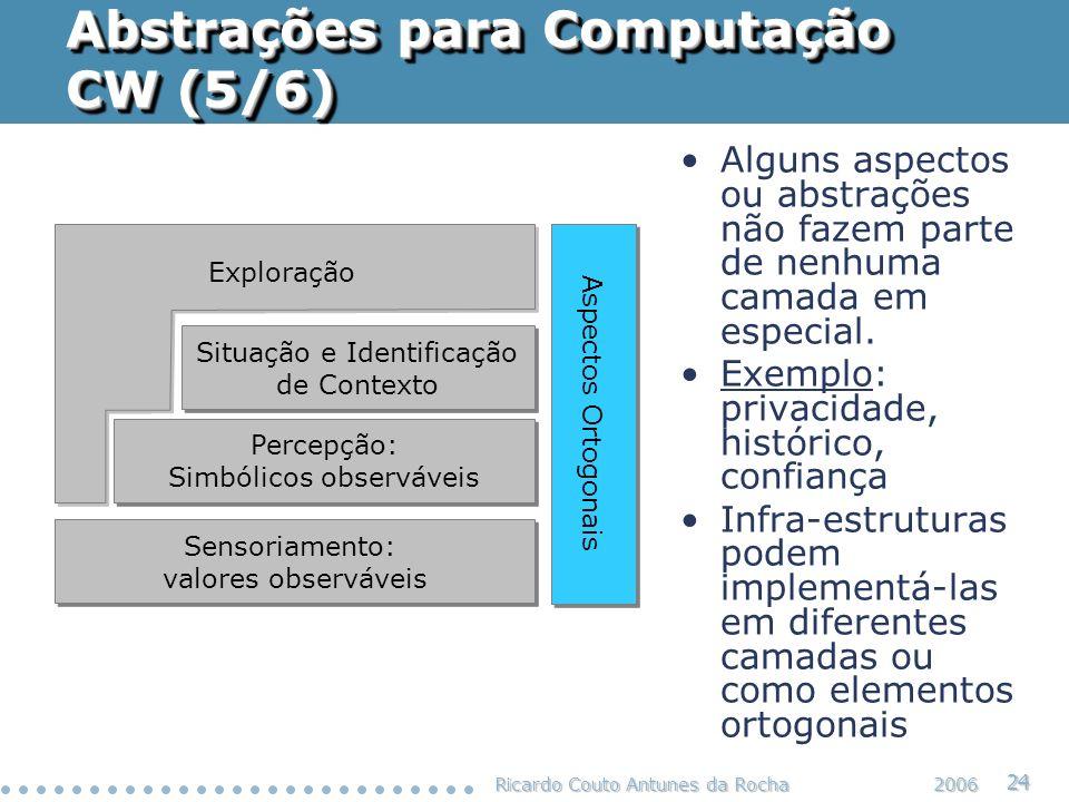 Abstrações para Computação CW (5/6)