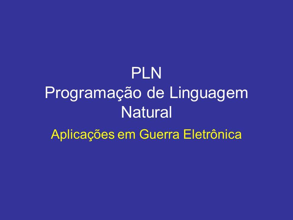 PLN Programação de Linguagem Natural