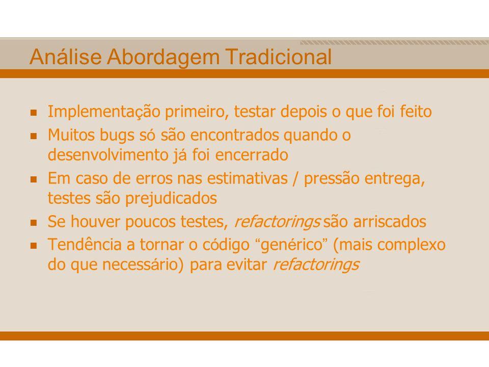 Análise Abordagem Tradicional