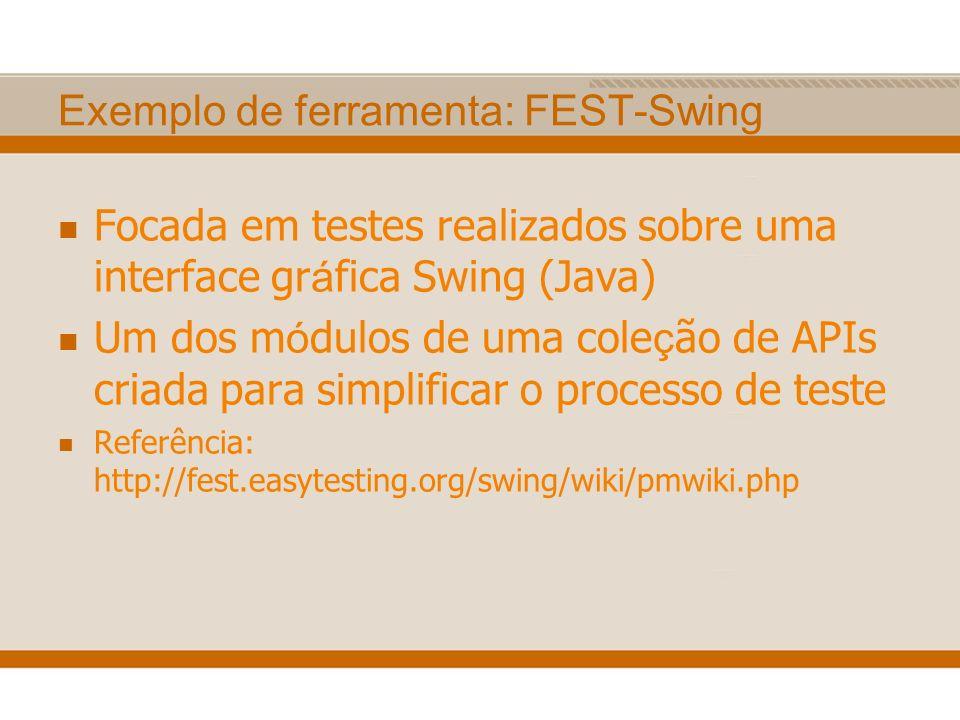 Exemplo de ferramenta: FEST-Swing