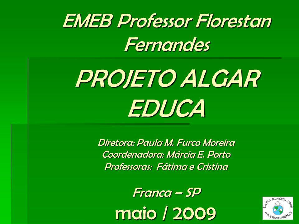 EMEB Professor Florestan Fernandes PROJETO ALGAR EDUCA Diretora: Paula M.