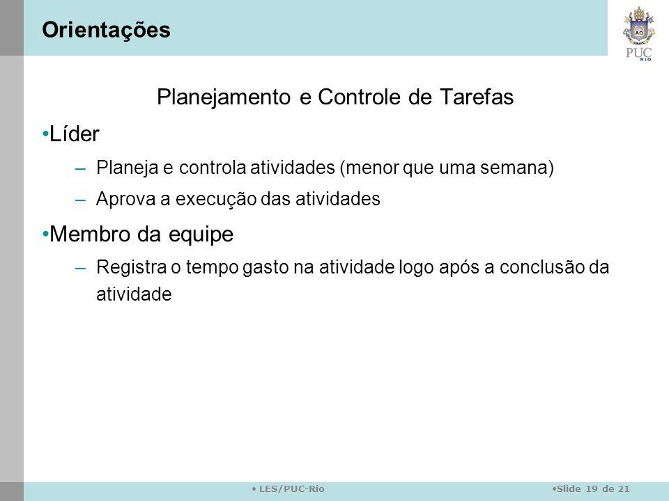 Planejamento e Controle de Tarefas