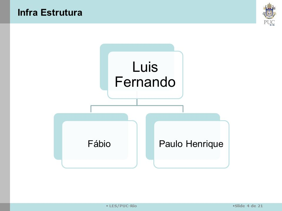 Infra Estrutura Luis Fernando Fábio Paulo Henrique