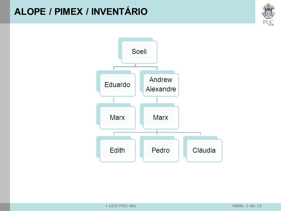 ALOPE / PIMEX / INVENTÁRIO