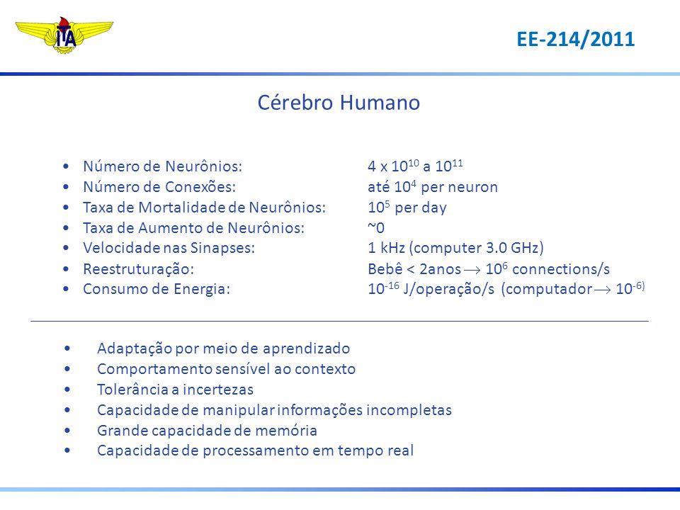Cérebro Humano EE-214/2011 Número de Neurônios: 4 x 1010 a 1011