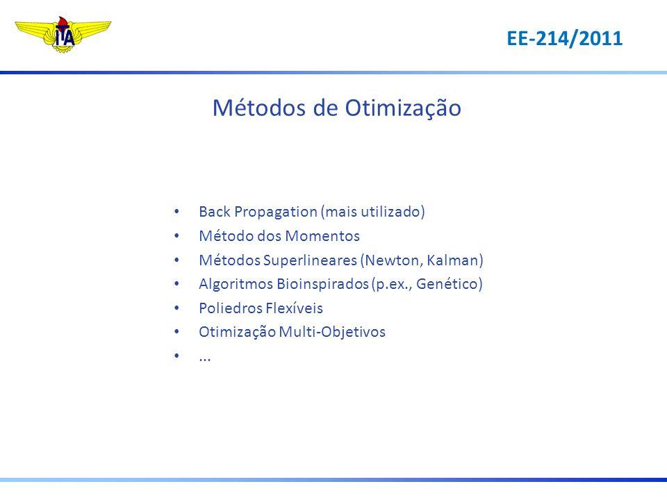 Métodos de Otimização EE-214/2011 Back Propagation (mais utilizado)