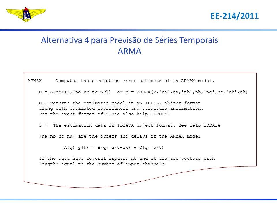 Alternativa 4 para Previsão de Séries Temporais