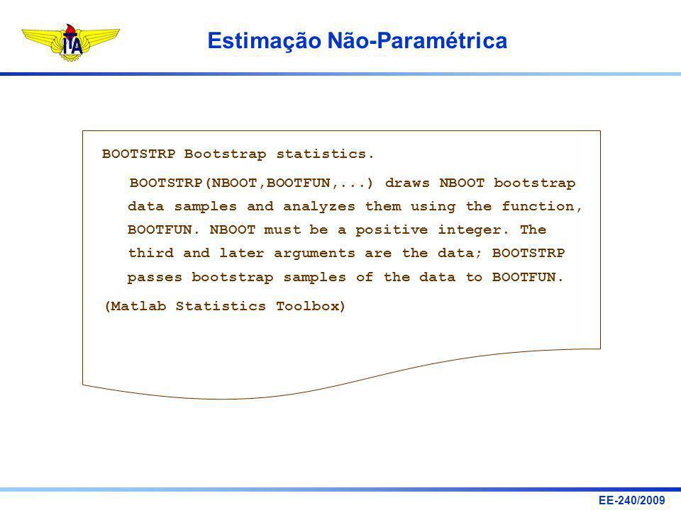 BOOTSTRP Bootstrap statistics.
