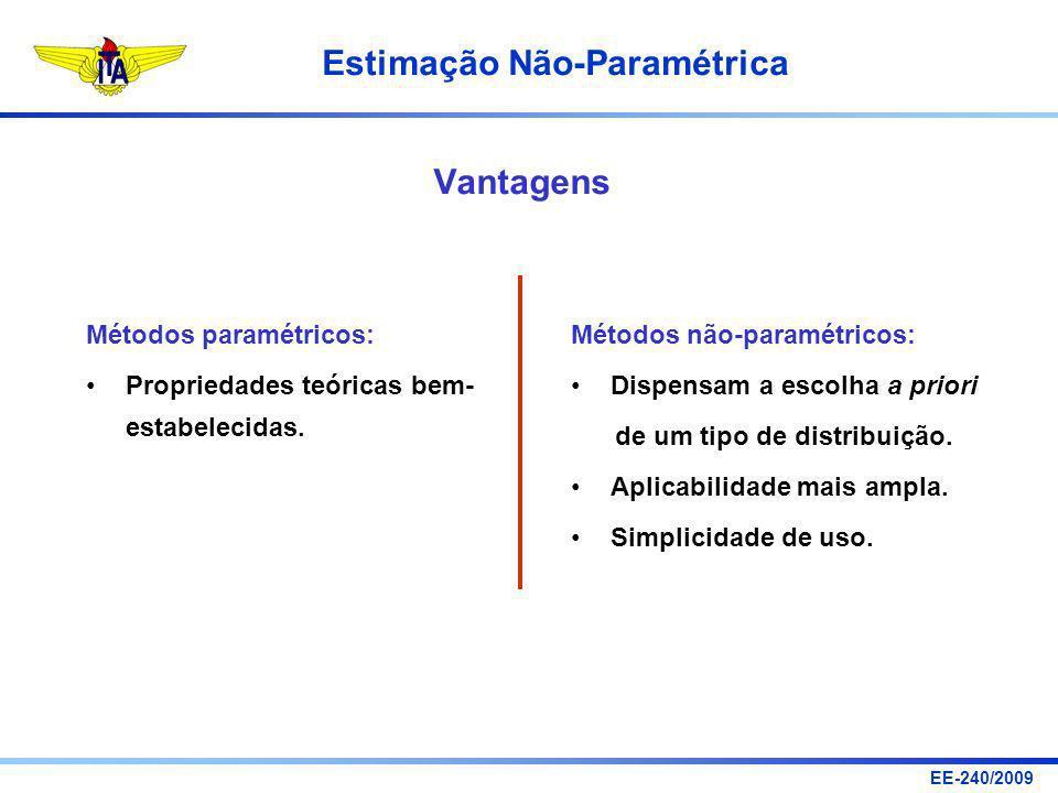 Vantagens Métodos paramétricos: