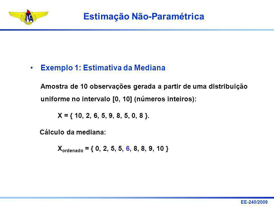 Exemplo 1: Estimativa da Mediana