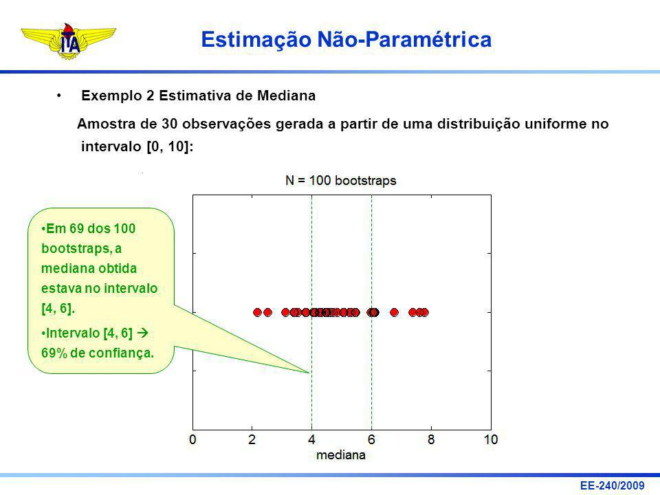 Exemplo 2 Estimativa de Mediana
