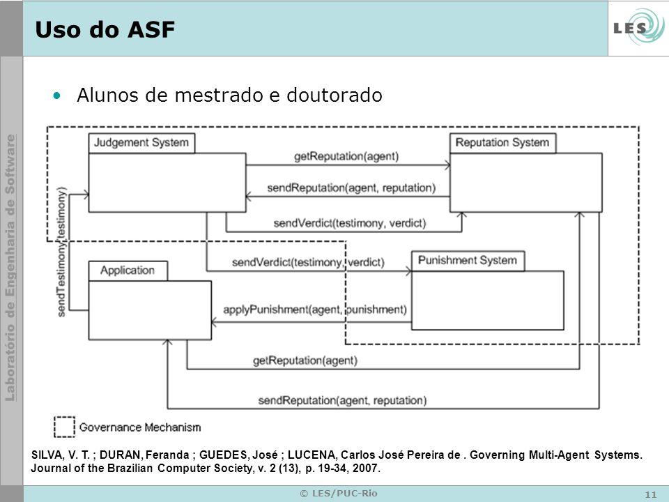 Uso do ASF Alunos de mestrado e doutorado