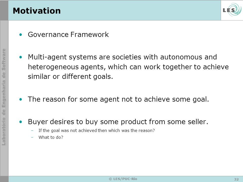 Motivation Governance Framework
