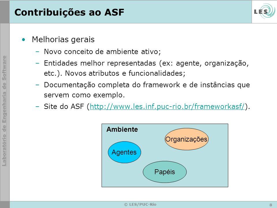 Contribuições ao ASF Melhorias gerais Novo conceito de ambiente ativo;