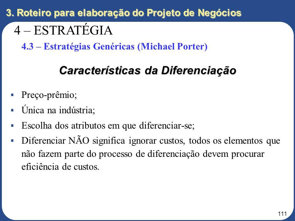 Características da Diferenciação