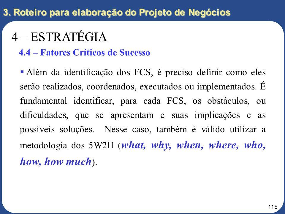 4 – ESTRATÉGIA 3. Roteiro para elaboração do Projeto de Negócios