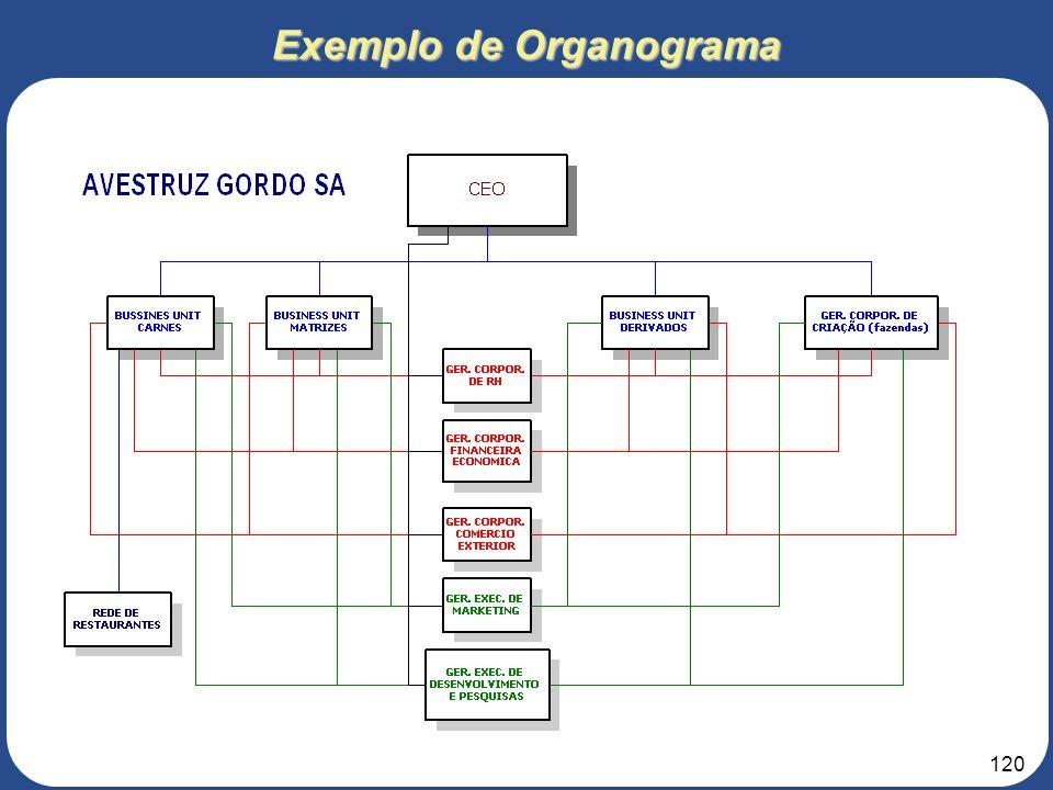 Exemplo de Organograma