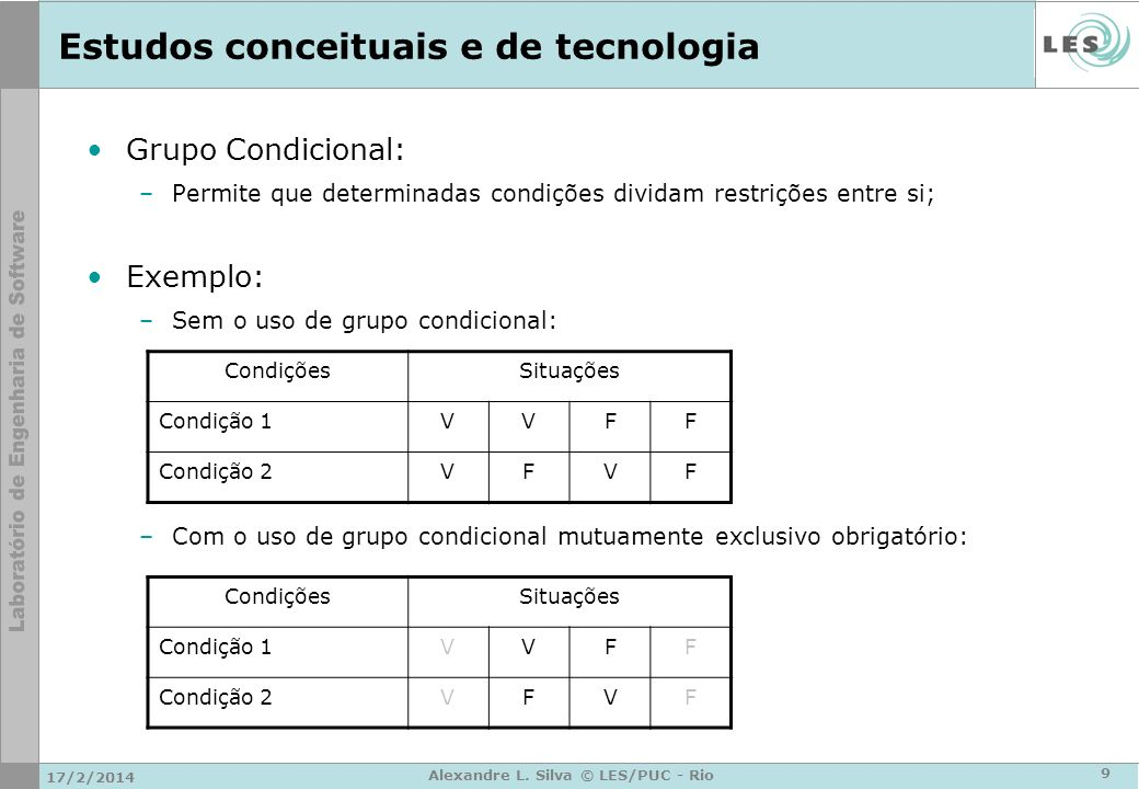 Estudos conceituais e de tecnologia