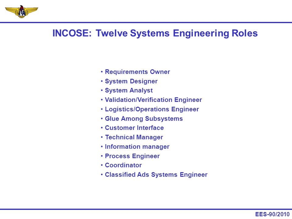 INCOSE: Twelve Systems Engineering Roles