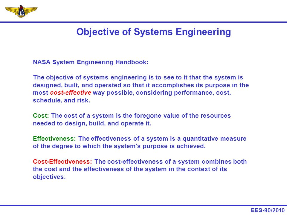 Objective of Systems Engineering