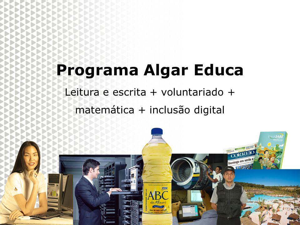Programa Algar Educa Leitura e escrita + voluntariado +