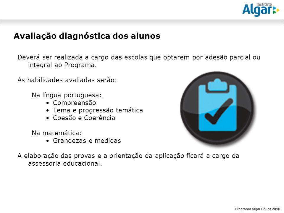 Avaliação diagnóstica dos alunos