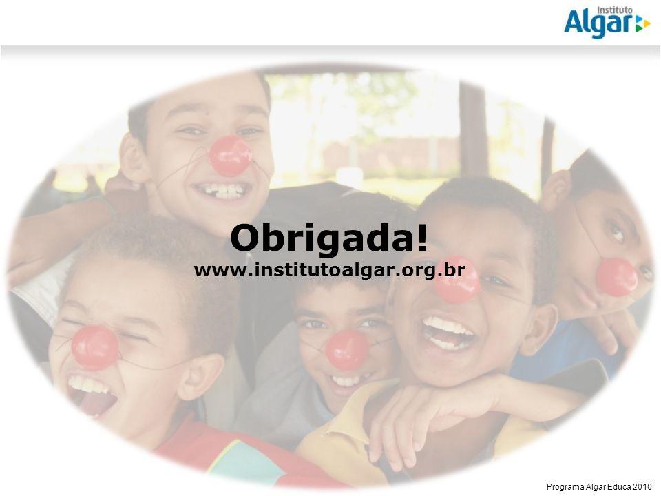 Obrigada! www.institutoalgar.org.br