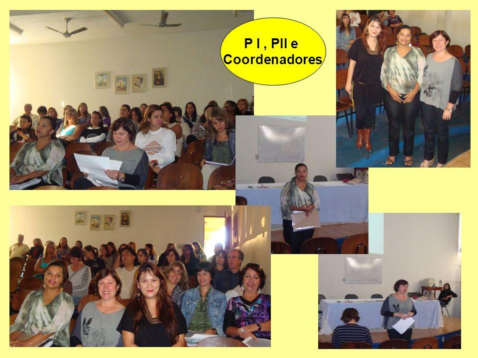 P I , PII e Coordenadores