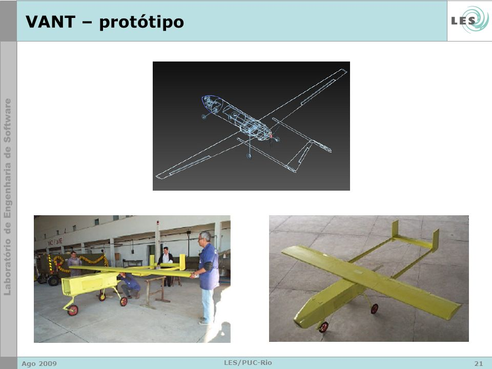 VANT – protótipo Ago 2009 LES/PUC-Rio