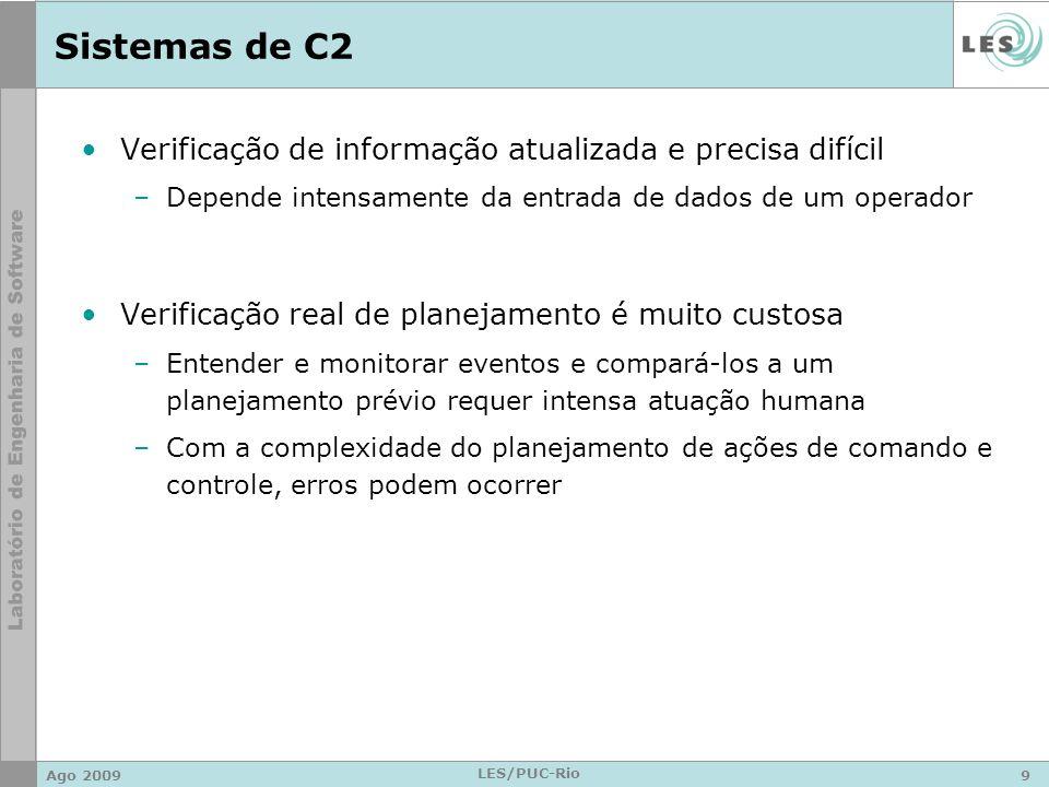 Sistemas de C2 Verificação de informação atualizada e precisa difícil