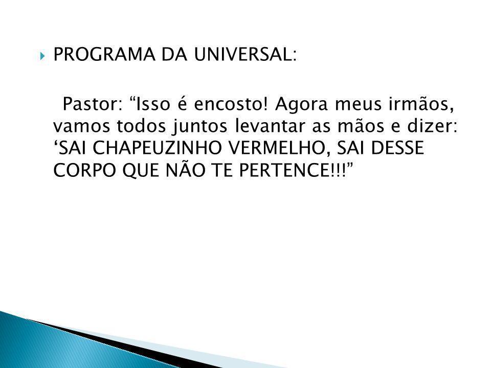 PROGRAMA DA UNIVERSAL: