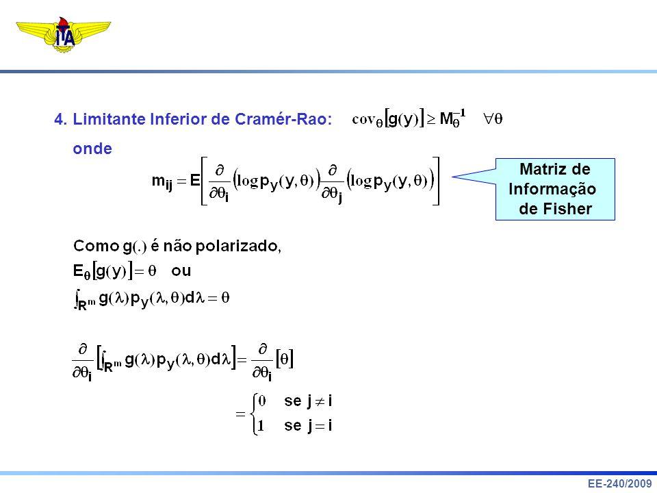 4. Limitante Inferior de Cramér-Rao: