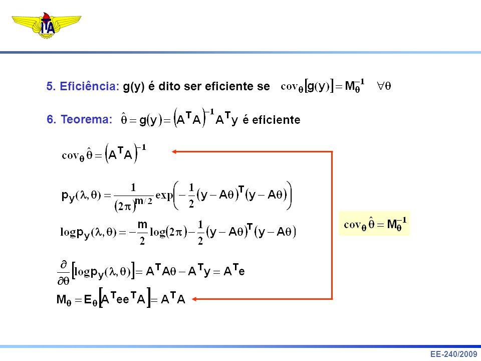 5. Eficiência: g(y) é dito ser eficiente se