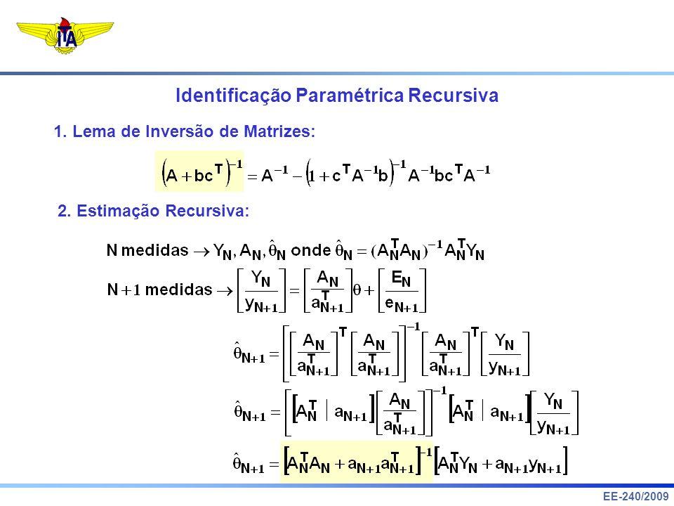Identificação Paramétrica Recursiva