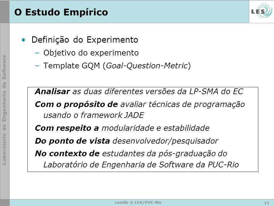 O Estudo Empírico Definição do Experimento Objetivo do experimento