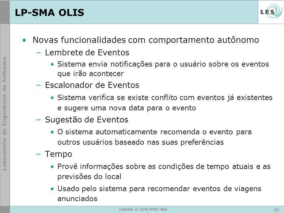 LP-SMA OLIS Novas funcionalidades com comportamento autônomo