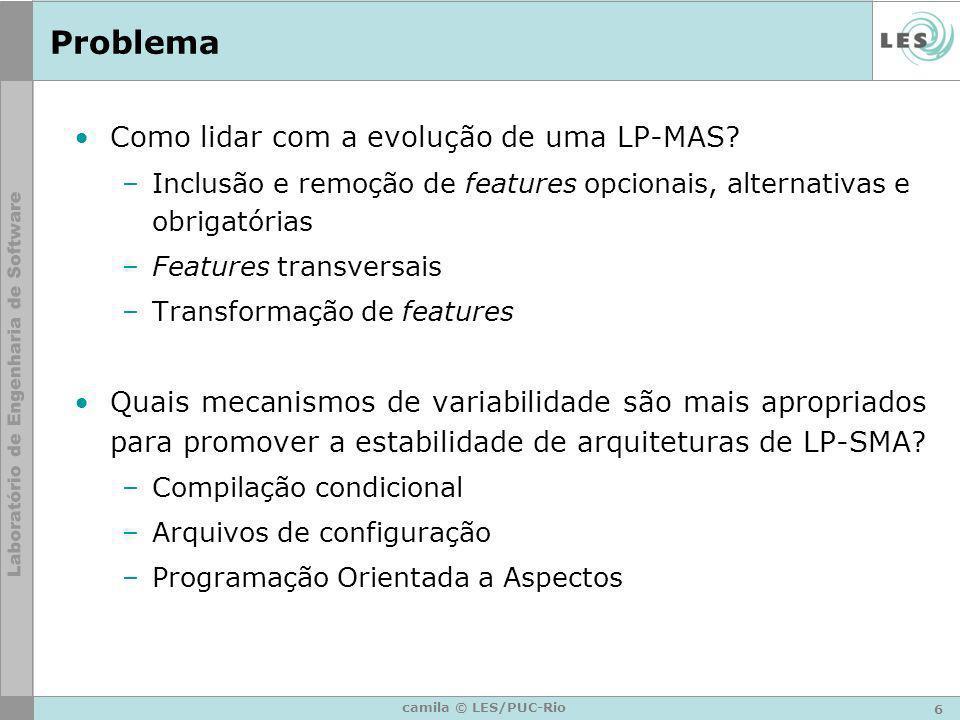 Problema Como lidar com a evolução de uma LP-MAS