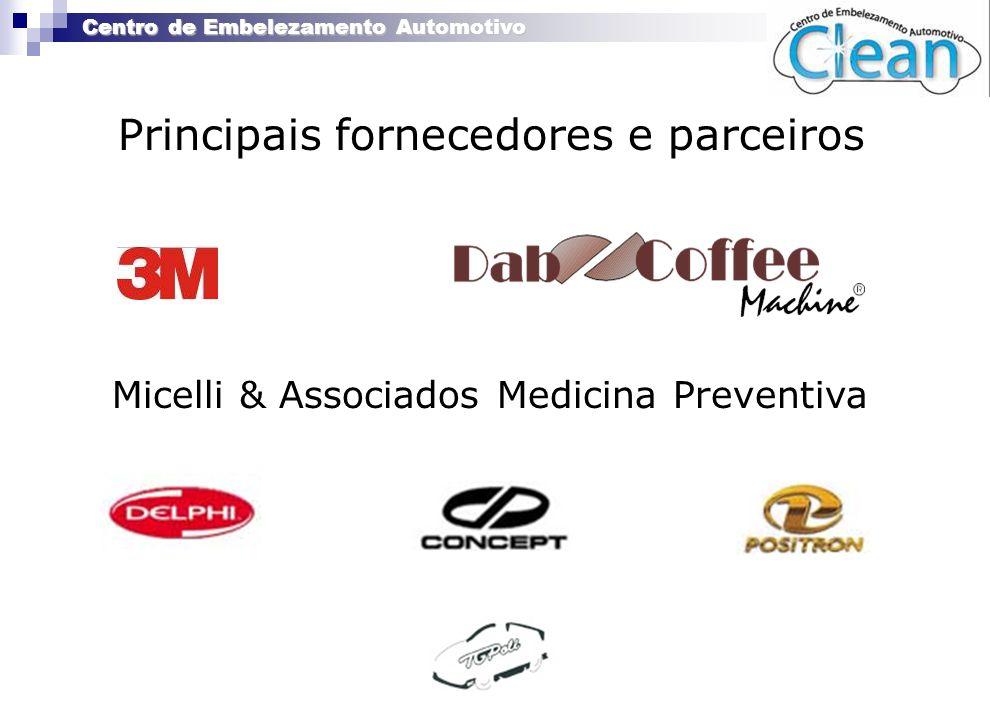 Principais fornecedores e parceiros