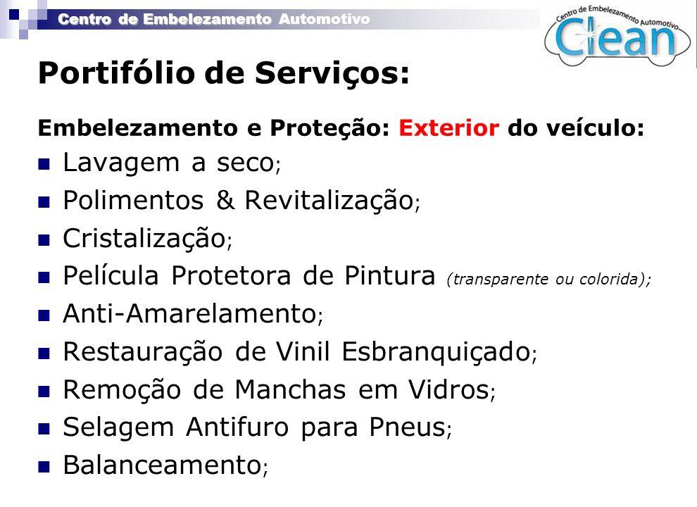 Portifólio de Serviços: