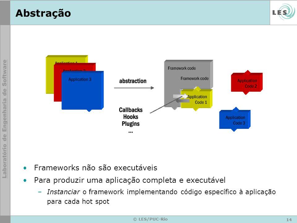 Abstração Frameworks não são executáveis