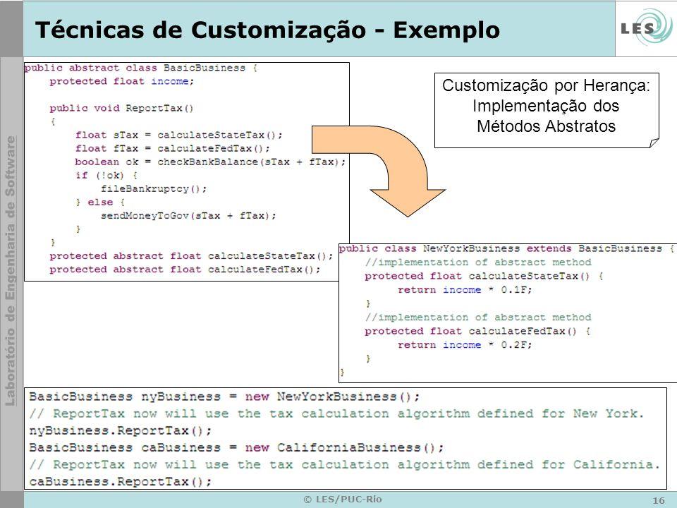 Técnicas de Customização - Exemplo