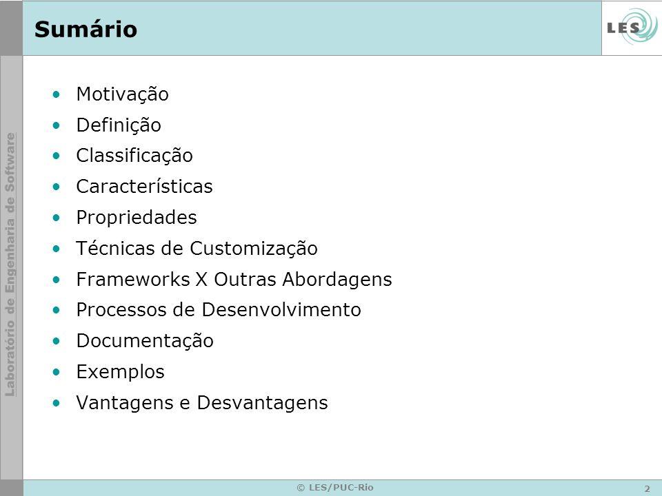 Sumário Motivação Definição Classificação Características Propriedades