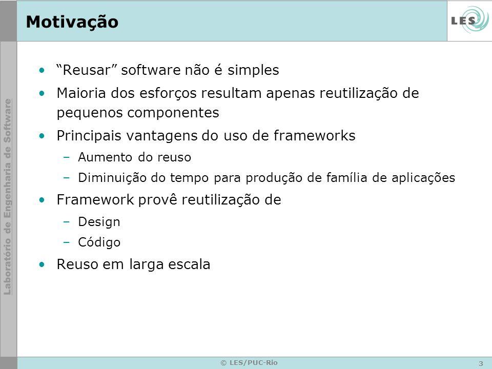 Motivação Reusar software não é simples