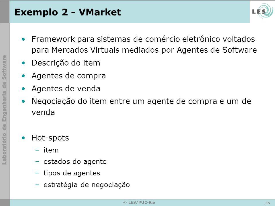 Exemplo 2 - VMarket Framework para sistemas de comércio eletrônico voltados para Mercados Virtuais mediados por Agentes de Software.