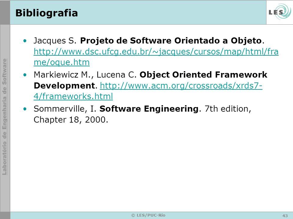 Bibliografia Jacques S. Projeto de Software Orientado a Objeto. http://www.dsc.ufcg.edu.br/~jacques/cursos/map/html/frame/oque.htm.