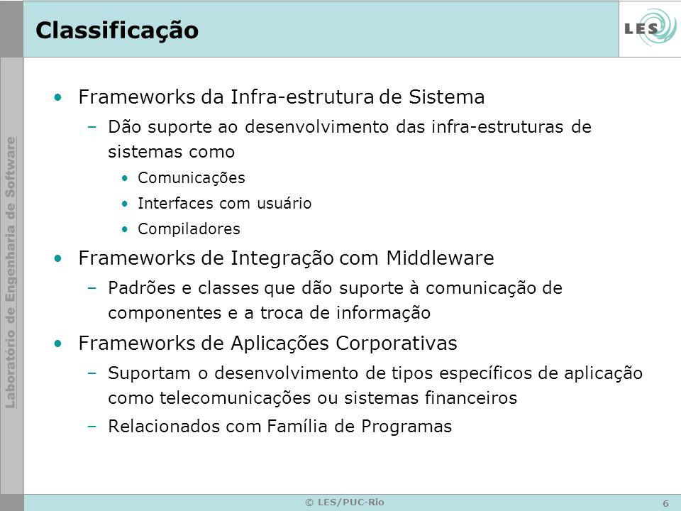 Classificação Frameworks da Infra-estrutura de Sistema